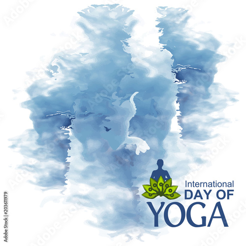 Vector Illustration Abstract Background For Celebrating International Yoga Day Of June 2 Designs For Posters Backgrounds Cards Banners Stickers Etc Buy This Stock Vector And Explore Similar Vectors At Adobe Stock
