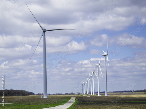 Fotografie, Obraz  Wind Farm and Farming