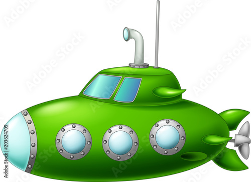 Láminas  cute green submarine cartoon