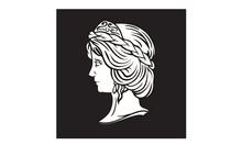 Greek Goddess Sculpture Logo D...