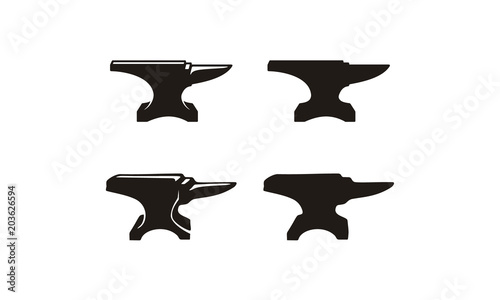 Photo Anvil for vintage logo design