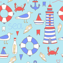 Vector Seamless Pattern With S...