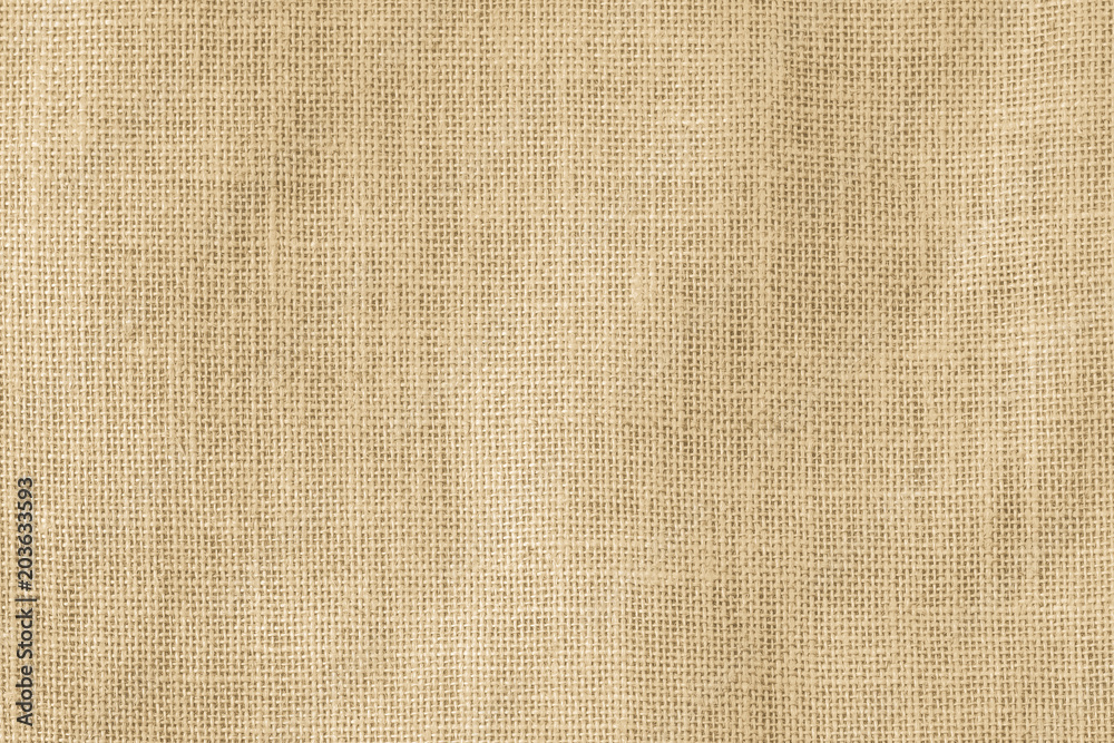 Fototapety, obrazy: Hessian sackcloth woven texture pattern background in light cream yellow beige earth tone color
