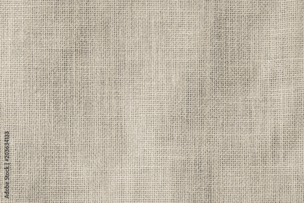 Fototapety, obrazy: Hessian sackcloth woven texture pattern background in light sepia cream beige brown color