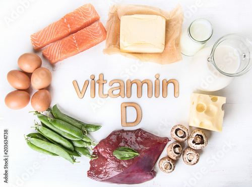 Natural foods rich in vitamin D