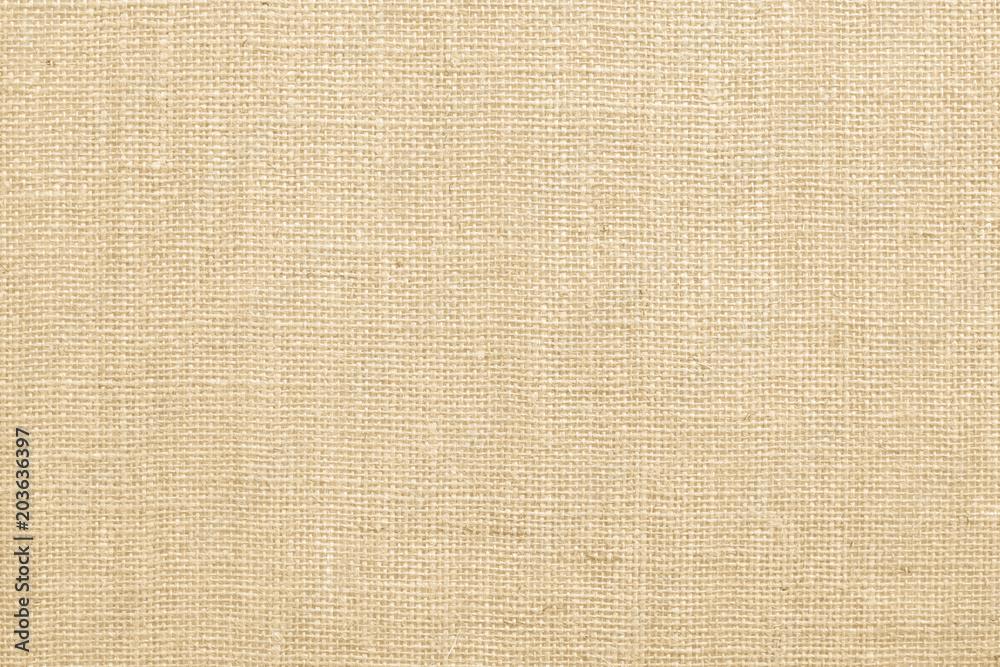 Fototapety, obrazy: Jute fabric sackcloth burlap texture background beige cream brown color