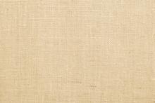 Jute Fabric Sackcloth Burlap Texture Background Beige Cream Brown Color