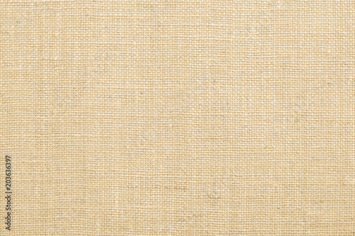 Fotografie, Obraz  Jute fabric sackcloth burlap texture background beige cream brown color