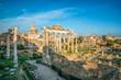 Roman Forum in Rome , Italy.