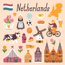 Vector Icon Set Of Netherlands...