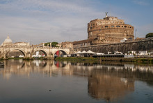 Beautiful View Of Castel Sant'Angelo, The Vatican And The Tiber River, Rome, Italy