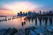 Manhatten Skyline at sunset