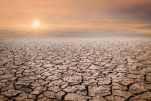 Land With Dry And Cracked Grou...