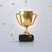 Golden Champion Cup Isolated O...