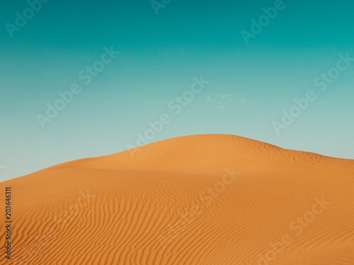 Deurstickers Droogte Sand Dunes in the Sahara Desert