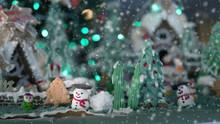 Christmas Food Background  Sno...