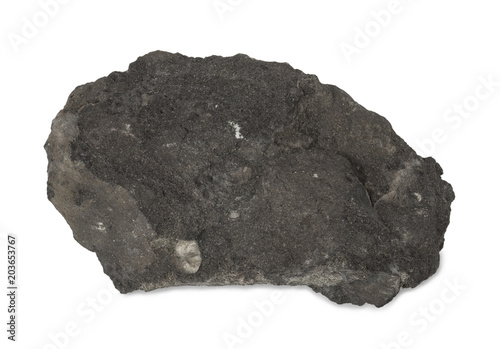 Sample of mineral phosphorite or rock phosphate  isolated on white background Canvas-taulu
