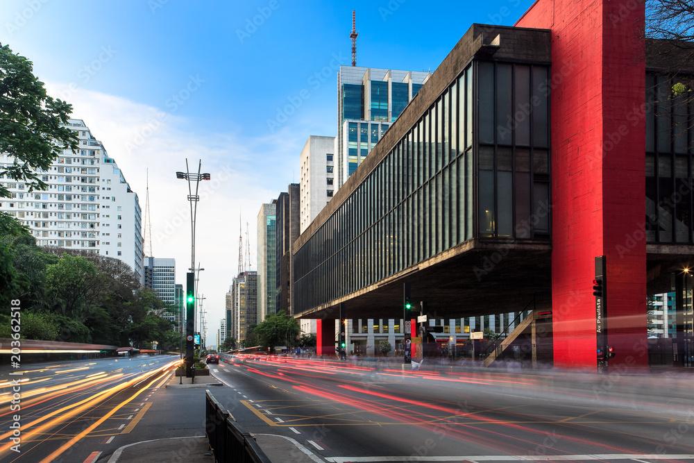 Fototapety, obrazy: Paulista Avenue in Sao Paulo - Brazil