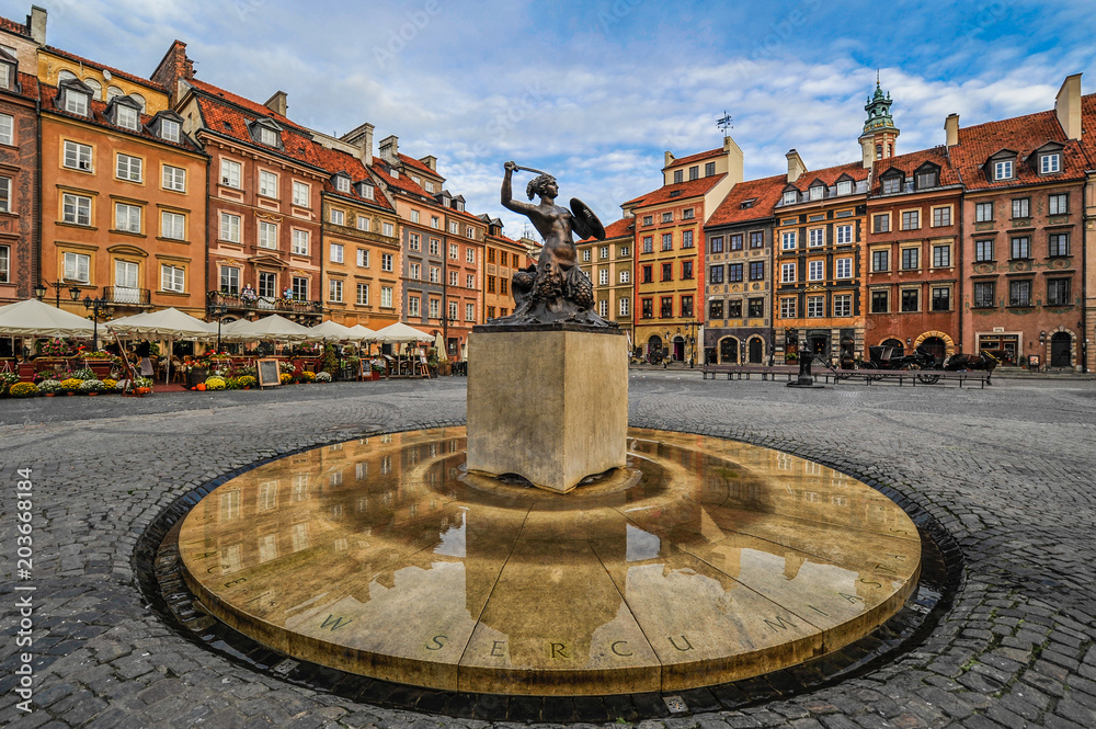 Fototapety, obrazy: Warsaw, Poland (Capital City)