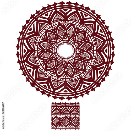 Fotografie, Obraz  Round Ornament Pattern