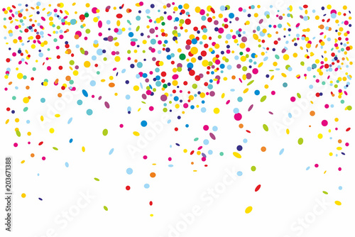 Obraz Colorful confetti isolated on white background - fototapety do salonu