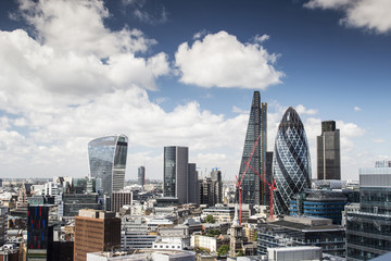 london skyline in summer