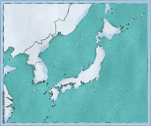 Cartina Asia Fisica.Cartina Del Giappone Corea Del Nord E Corea Del Sud Cartina Fisica Asia Est Asiatico Cartina Con Rilievi E Montagne E Oceano Pacifico Atlante Cartografia Stock Illustration Adobe Stock