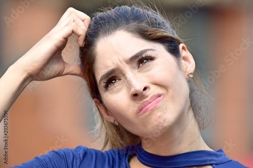 Fotografía  Confused Attractive Diverse Person