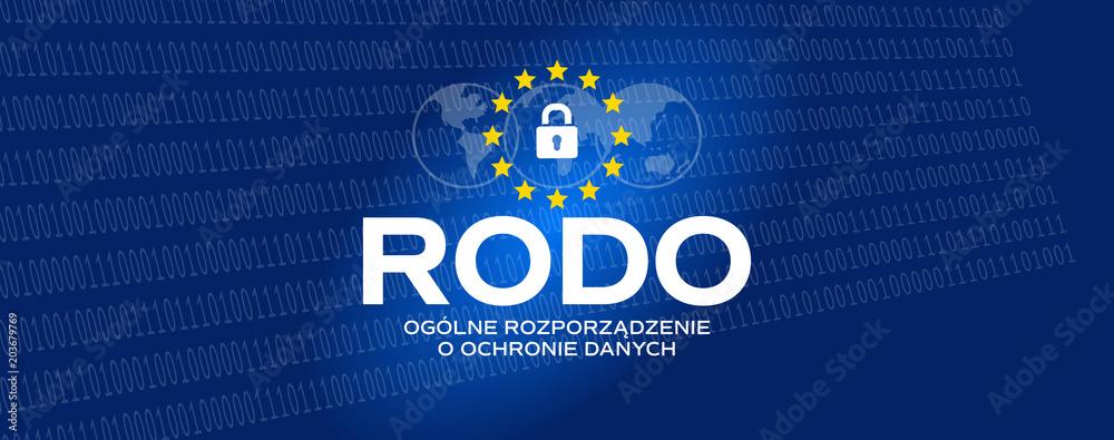 Fototapeta RODO - Ogólne Rozporządzenie o Ochronie Danych