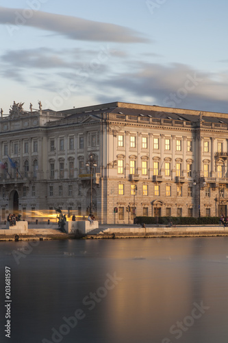 The Lloyd Triestino building, Trieste Canvas Print