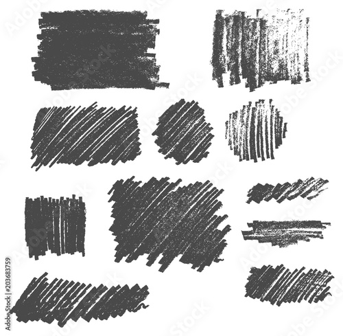 Photo  Hand drawn pencil drawing texture scribble vector set eps10