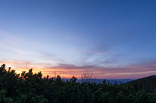 Sunset In The Blue Hour. View ...