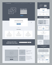 One Page Website Design Templa...