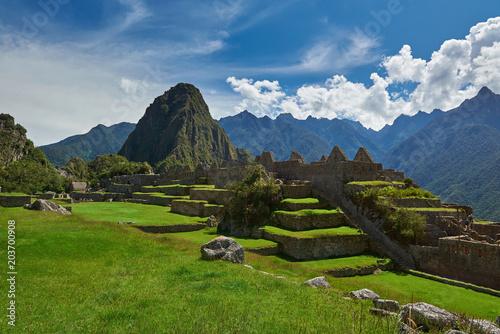 Foto op Canvas Zuid-Amerika land Beautiful day in Machu Picchu