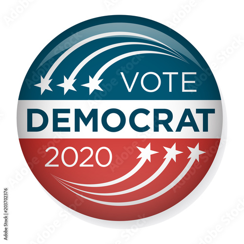 Fotografie, Tablou 2020 Campaign Election Pin Button or Badge with Patriotic Stars & Stripes Theme