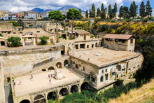 Herculaneum. View On The Ancient Town