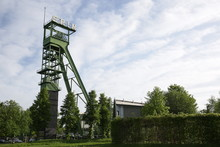 Abandoned Mine Head Tower Located In Castrop-Rauxel, Germany.
