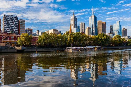 Plakat Wspaniałe nowoczesne miasto Melbourne