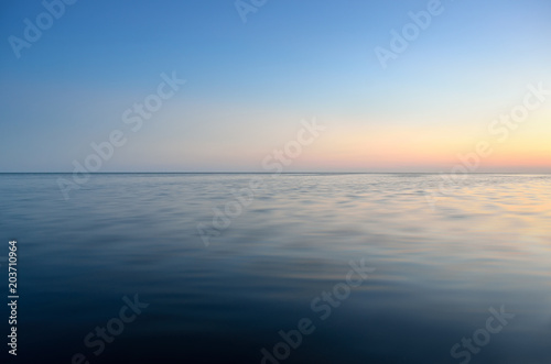 Foto op Plexiglas Zee / Oceaan Panorama of sea waves on the background of dawn