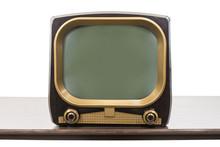 Vintage 1950s Television On Ta...