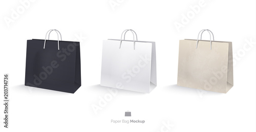 Photo Paper bags, set, mocap