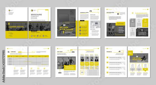Fotografie, Tablou Brochure creative design