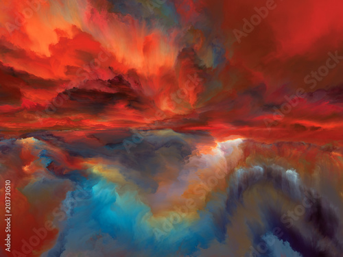 Fotografie, Obraz  Inner Life of Abstract LandscapeInner Life of Abstract Landscape