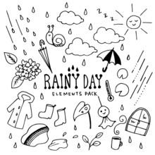 Rainy Day Illustration Pack