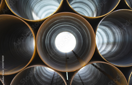 Fototapeta plumbing iron pipes, industry, manufacture of iron pipes