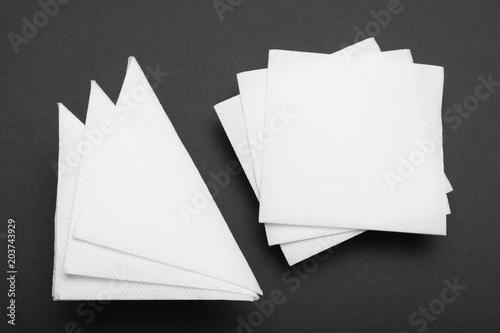 Fotografie, Obraz  Drink bar serviette paper napkin mockup.