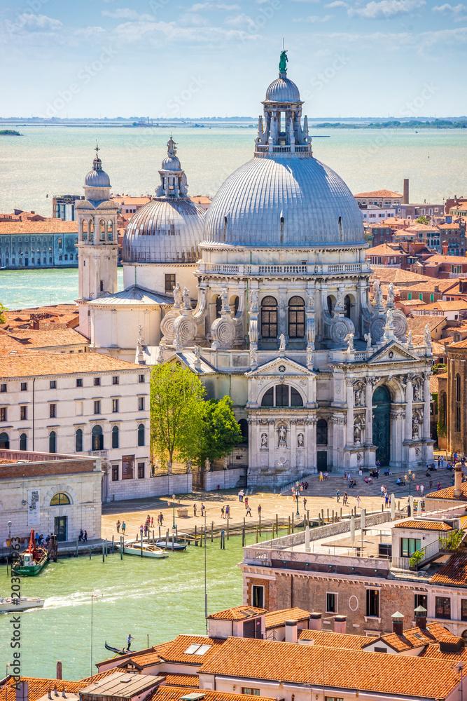 Fototapety, obrazy: Wenecja, kanał grande i bazylika Santa Maria della salut, Włochy, Europa