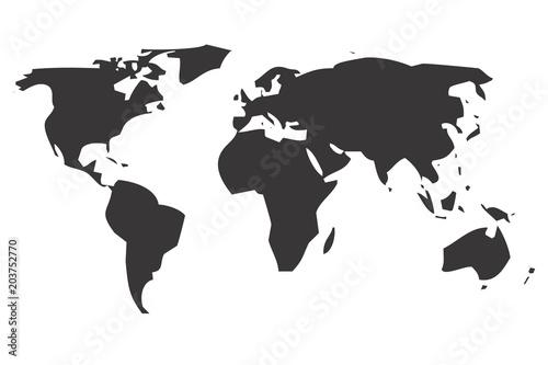 Mapa del mundo de color negro.