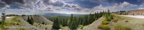 Fototapeta Panorama Góry Izerskie Kopalnia Kwarcu na Karkonosze obraz