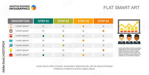 Photo  Four step creative chart
